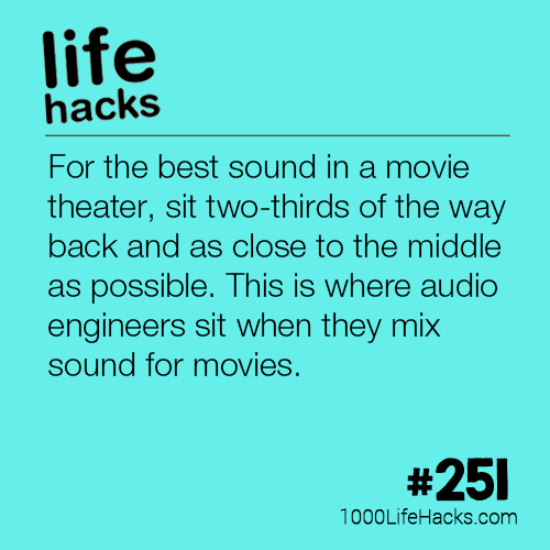 Where To Get The Best Sound in a Movie Theatre
