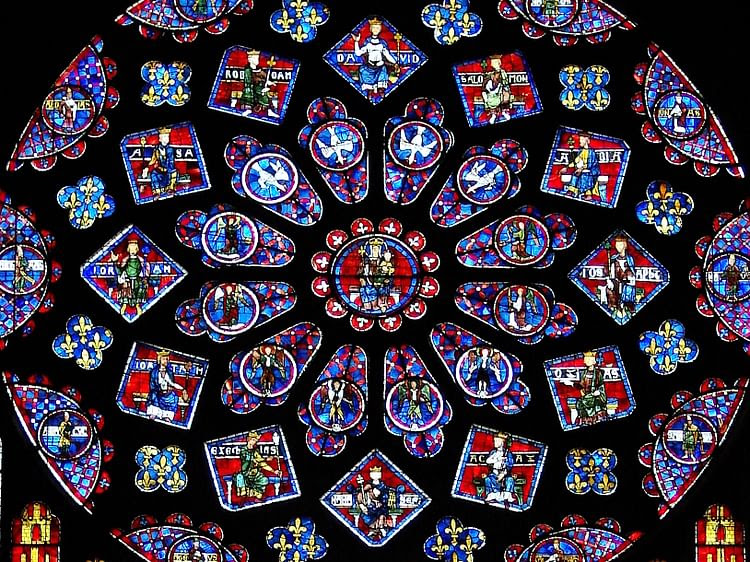 The Stained Glass Windows Of Chartres Cathedral Ancient History