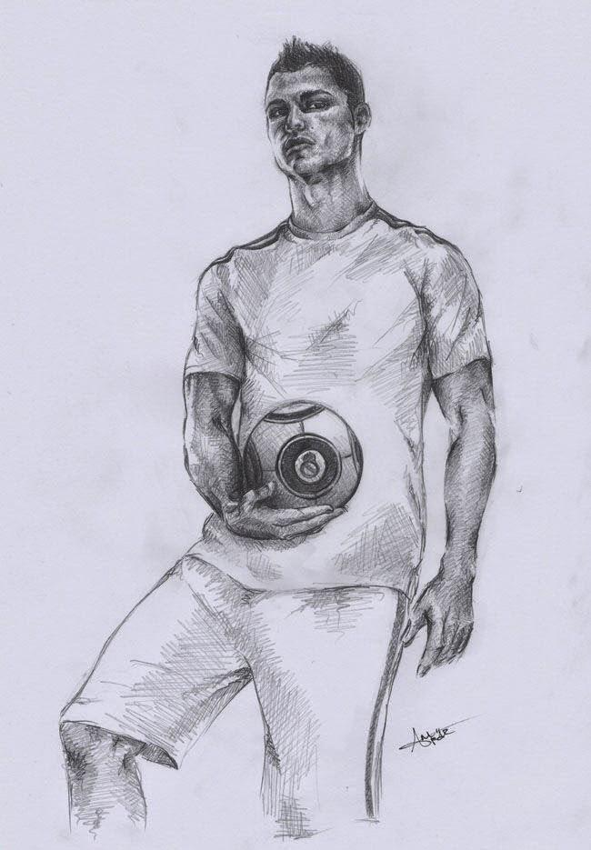 Inspirado Dibujos Para Colorear De Cristiano Ronaldo Del