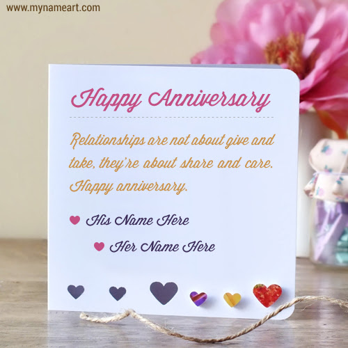 Anniversary Wishes For Couples Name Edit Online