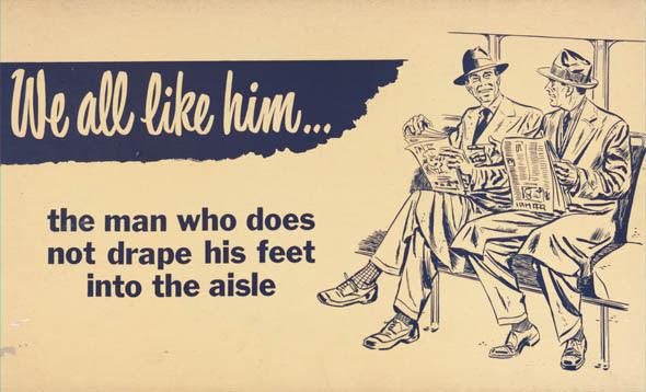 ttc subway cards advertisements drape feet