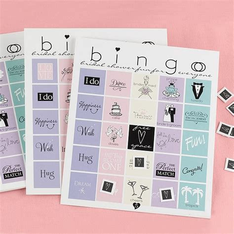 21 Pc. Bridal Shower Bingo Card Game Set