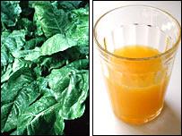 Espinaca y jugo de naranja (BBC)