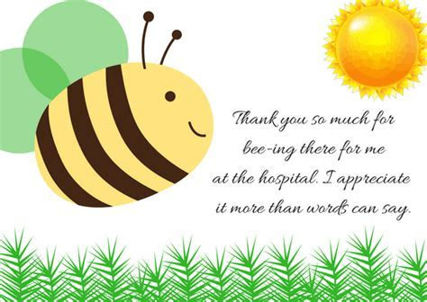 Thank You Note Wording for Hospital Visit