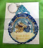 Souvenir Kulit Gantungan  Kunci  AD