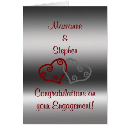 Engagement Congratulations, entwined Maori hearts Greeting Card