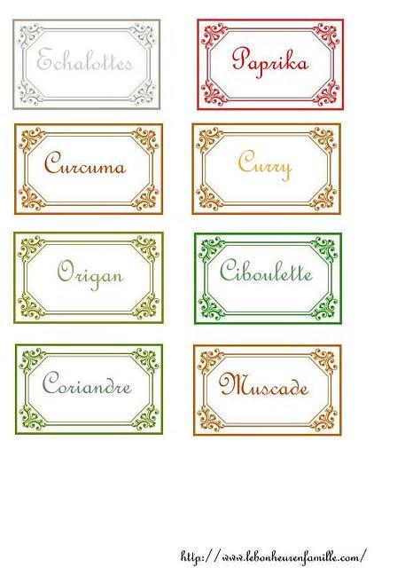 étiquettes condiments AAAAAAAAAAAAA