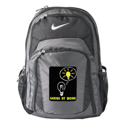 Genius at work nike backpack