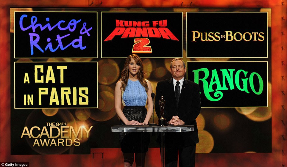 Anúncio: Os indicados foram anunciados pela atriz Jennifer Lawrence e Academy of Motion Picture Arts and Sciences presidente Tom Sherak