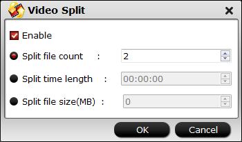 Split DJI Zenmuse X4S 4K video
