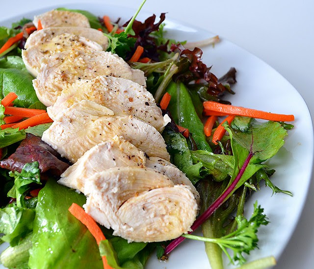 Vanilla-Scented Poached Chicken Salad