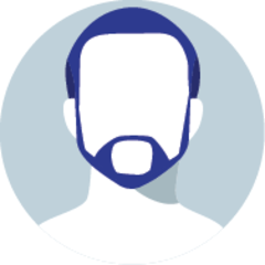 Icon of a faceless man with a beard