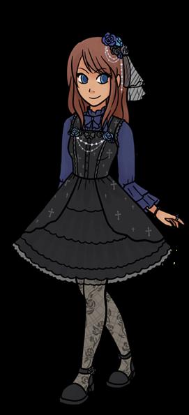 Resultado de imagem para anime lolita gothic