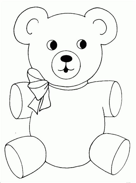 bear coloring pages preschool  kindergarten