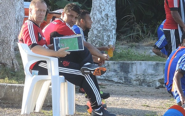 Mano Menezes Treino Flamengo (Foto: Cahê Mota)