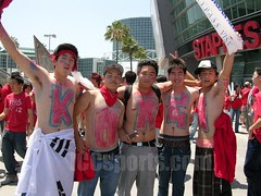Korean fans during 2006 World Cup Soccer