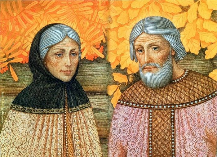 Sts. Peter and Febronia. A painting by: Alexander Prostev