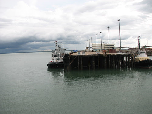 Tropical storms clouds Darwin Harbour