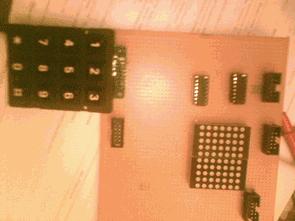 3X4 bàn phím điều khiển 5X7 Dot Matrix Led nổi loại
