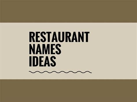 68 Best Restaurant Names ideas   Catchy Business Names
