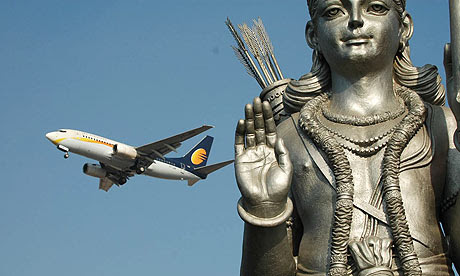 The Buddha statue near Delhi airport