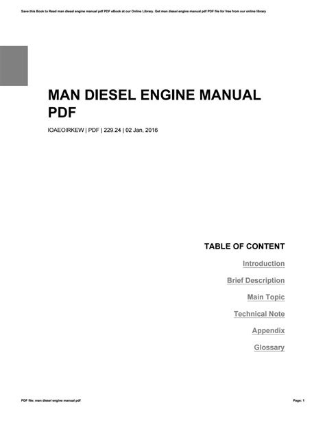 Man diesel engine manual pdf by VeraGroves1428 - Issuu