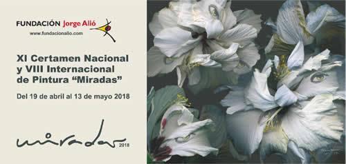 """Disponibles las bases de participación del Certamen de Pintura """"Miradas 2018"""""""