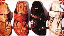 Kolhapuri chappals from Maharasthra, India