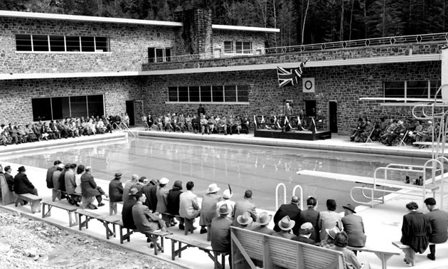 Image result for radium hot springs historical photos