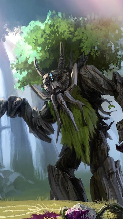 خلفية الرجل الشجرة بدقة عالية من لعبة دوتا كوين الملكة hd