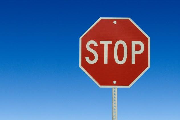 لافتات التوقف