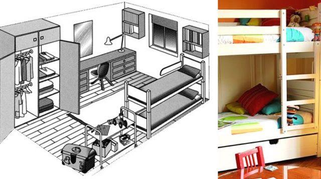 chambre d enfants plan_4578982