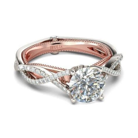 Two Tone Promise Diamond Rings   Wedding, Promise, Diamond