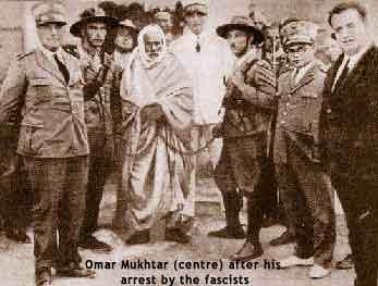 Libyan resistance fighter against Italian colonialism, Omar Mukhtar, after his capture by the fascists. by Pan-African News Wire File Photos