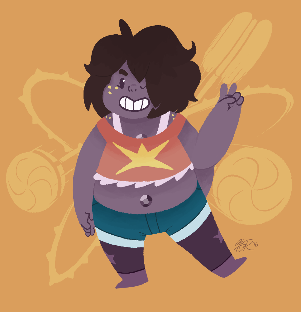 Think I might have a new favourite (non-Garnet) fusion. Smoky is pretty adorable. (Was pretty happy to see both her and Sardonyx in today's episode!)