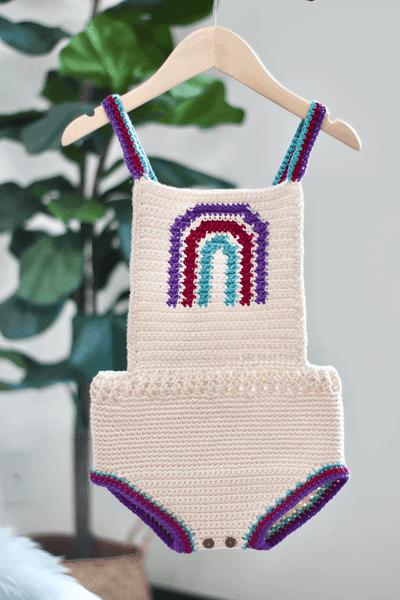 Boho Rainbow Romper Crochet Pattern