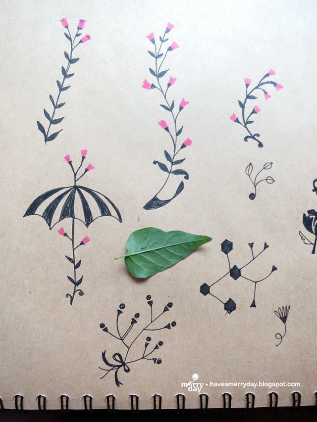 leaves-flower-sketches