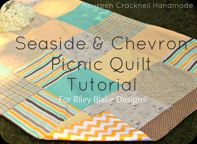 Seaside & Chevron Picnic Quilt Tutorial