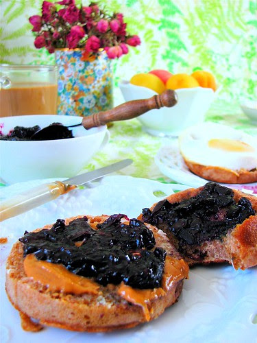 homemade blueberry jam whole wheat muffin recipe