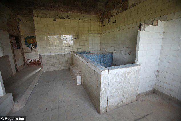 Modern: The heated baths were the height of luxury for the competing athletes but they were later used to hide the screams of torture victims