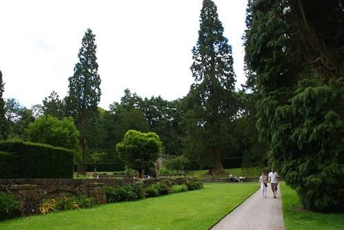 Path and stone walls at Chatsworth