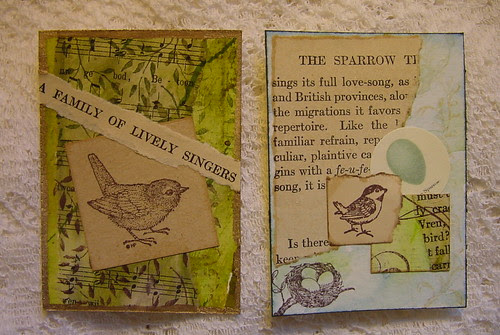 Stamped Birds ATCs