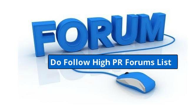 high pr  forums sites list