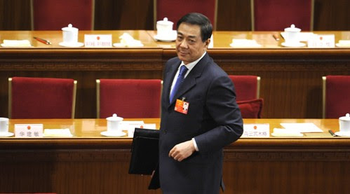 Bo Xilai, former Chinese Communist Party leader in Chongqing province. Mr. Bo was removed from his post at the recently-held National People's Congress. His wife was convicted of murder of a British businessman. by Pan-African News Wire File Photos