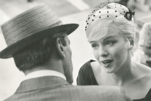 "Marilyn Monroe on the set of ""Misfits,"" 1962. Photo by Henri Cartier-Bresson"