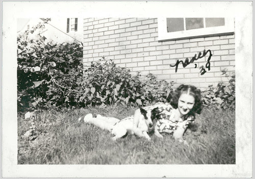 Nancy and Teeny in the grass