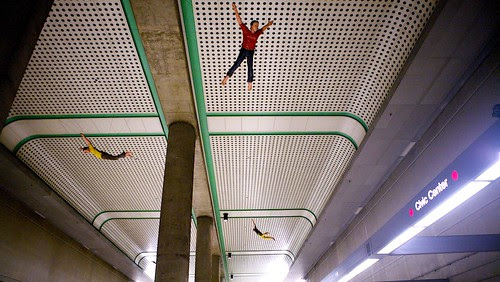 Weird Hanging Number Men Of The Metro Civic Center Red Line Stop Ceiling