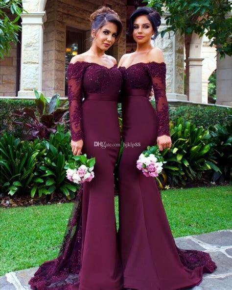 2017 New Mermaid Bridesmaid Dresses Elegant Bridesmaid