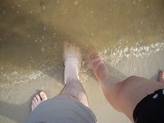 toes in the gulf