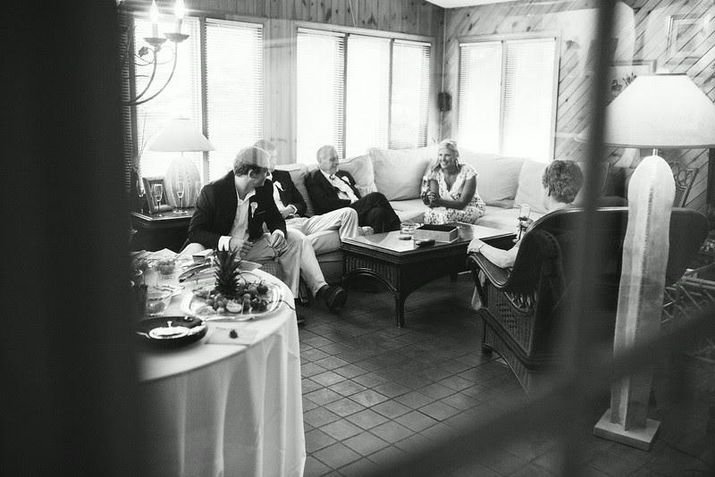 Reception / gathering photos following a small backyard wedding ceremony in Rockford IL. Photo by Mindy Joy Photography